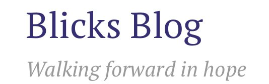 Blicks Blog